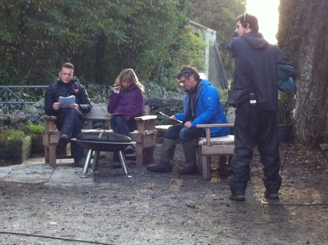 Rehearsals for the final live episode of Autumnwatch