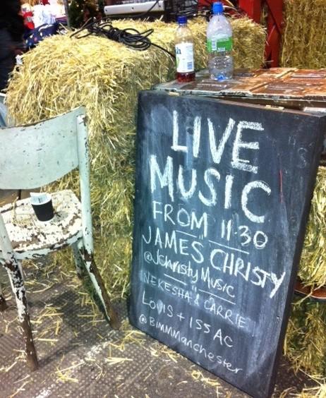 Altrincham Christmas Market's live music billboard
