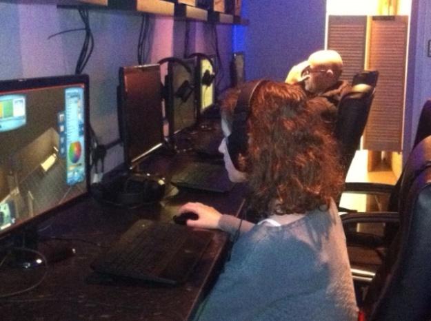 Playing Sims 3 at Fraggers, Altrincham